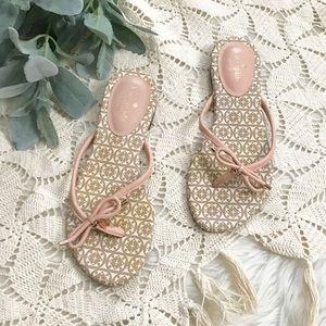 Kate Spade Nude Blush Logo Flat Flip Flop Sandals